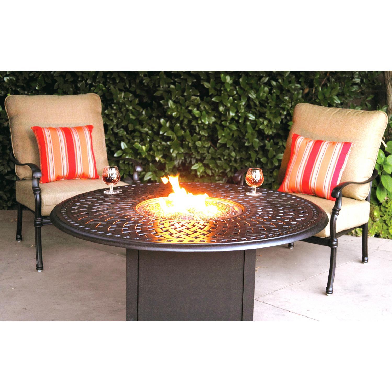 Darlee Florence 2-person Cast Aluminum Deep Seating Patio Fire Pit Conversation Set - Antique Bronze at Sears.com