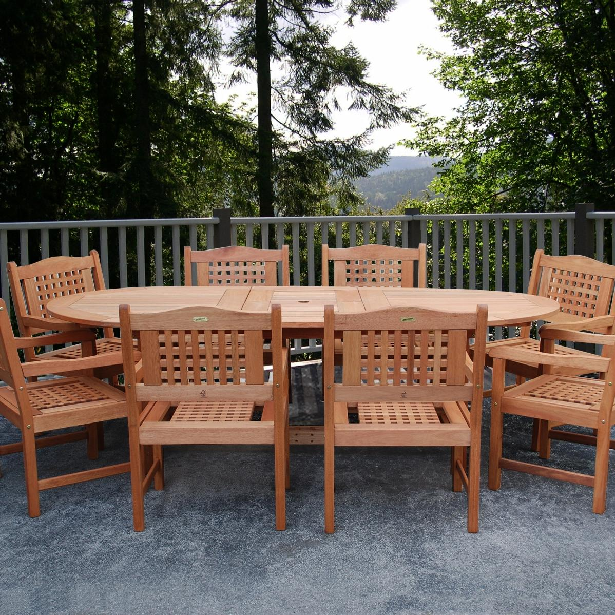 Eucalyptus Patio Dining Set