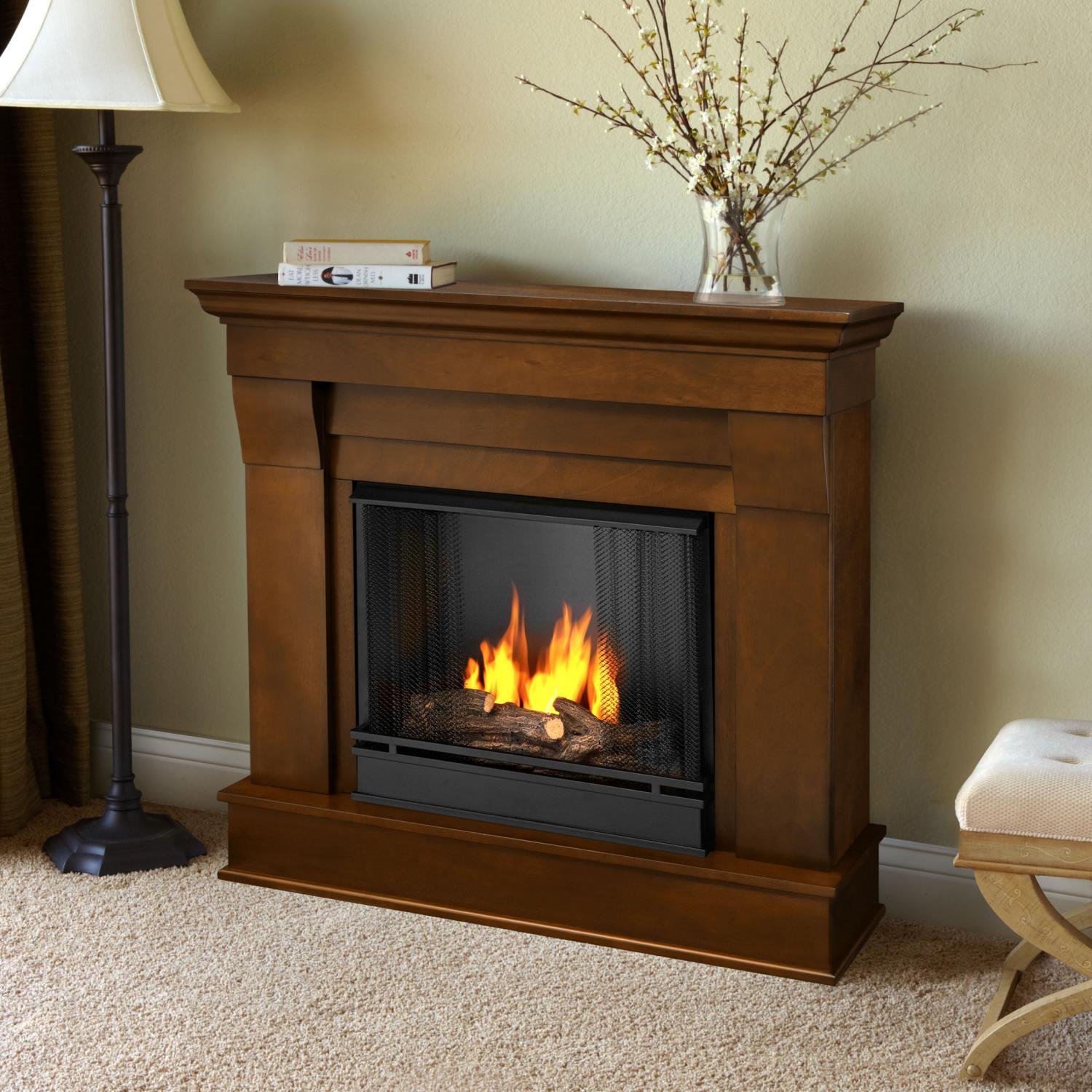 Real Flame Chateau 40-Inch Gel Fireplace - Espresso