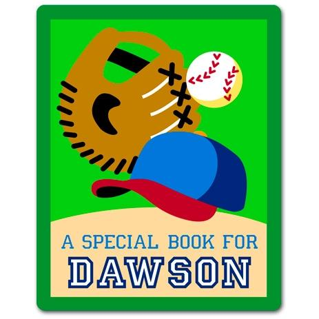 Olive Kids Personalized Book Plate - Game On Baseball