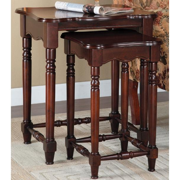 Powell Furniture - Brown Cherry 2-Pc. Nested Accent Tables - 716-266