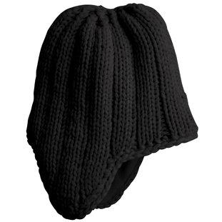 District Threads Chunky Knit Hat - Black