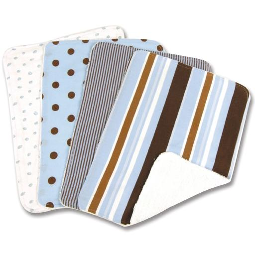 Trend Lab 4-Piece Burp Cloth Set - Max