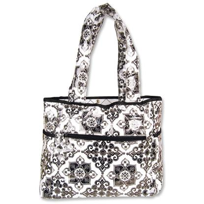 Trend Lab Tulip Tote Diaper Bag - Versailles Black