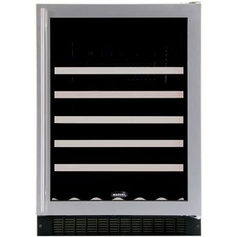 Marvel 61WCM Luxury 45 Bottle Built-In Left Hinge Wine Cooler - Glass Door / Black Trim