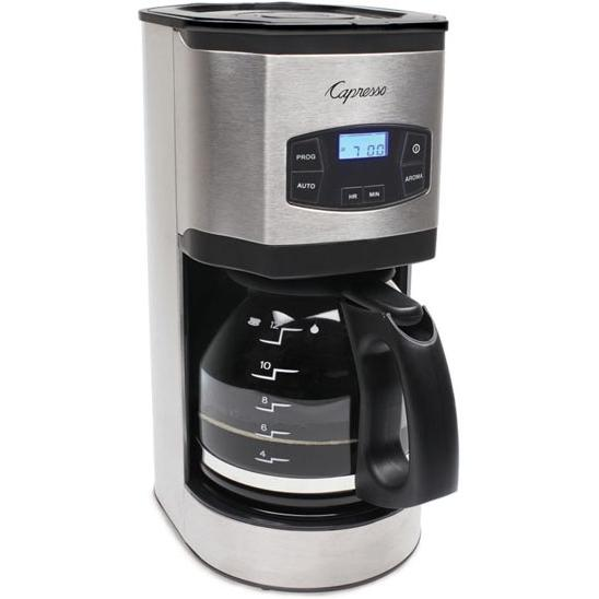 Picture of Capresso SG120 12-Cup Glass Carafe Stainless Steel Coffee Maker - 49405