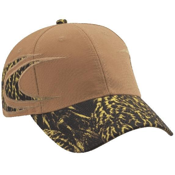 Cobra Caps FeatherFlage Boomerang Side Camo Cap - Caramel/DC