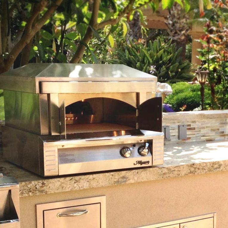 Countertop Pizza Oven For Home : Alfresco ALF-PZA 30-Inch Natural Gas Outdoor Countertop PizzaOven