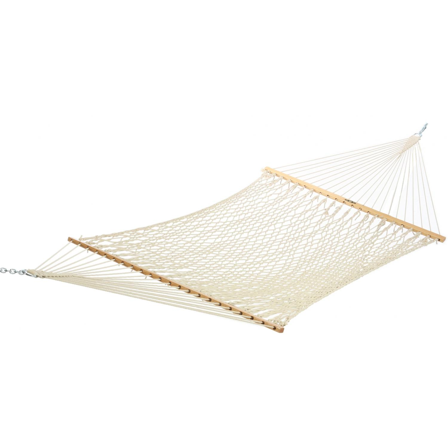 Pawleys Island 14OC Deluxe Original Cotton Rope Hammock - White
