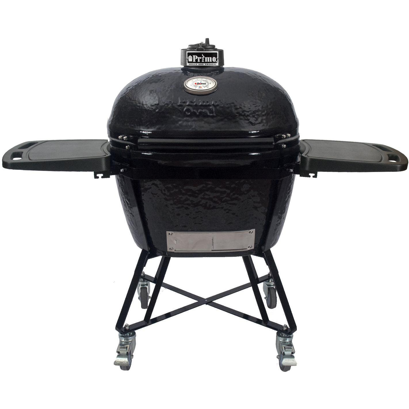 Primo All-In-One Oval XL Ceramic Kamado Grill With Cradle...