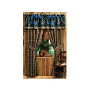 Blue Ridge Trading Window Curtain - Cabin Retreat
