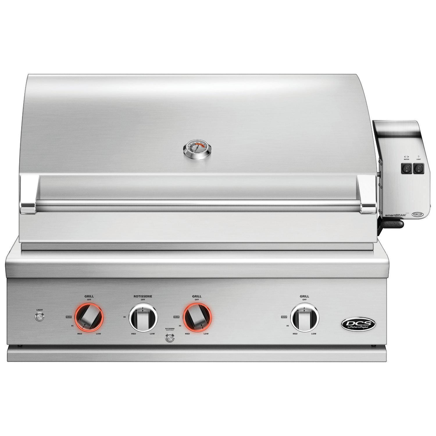 DCS Series 9 Evolution 36 Built-In Natural Gas Grill With Rotisserie - BE1-36RC-N