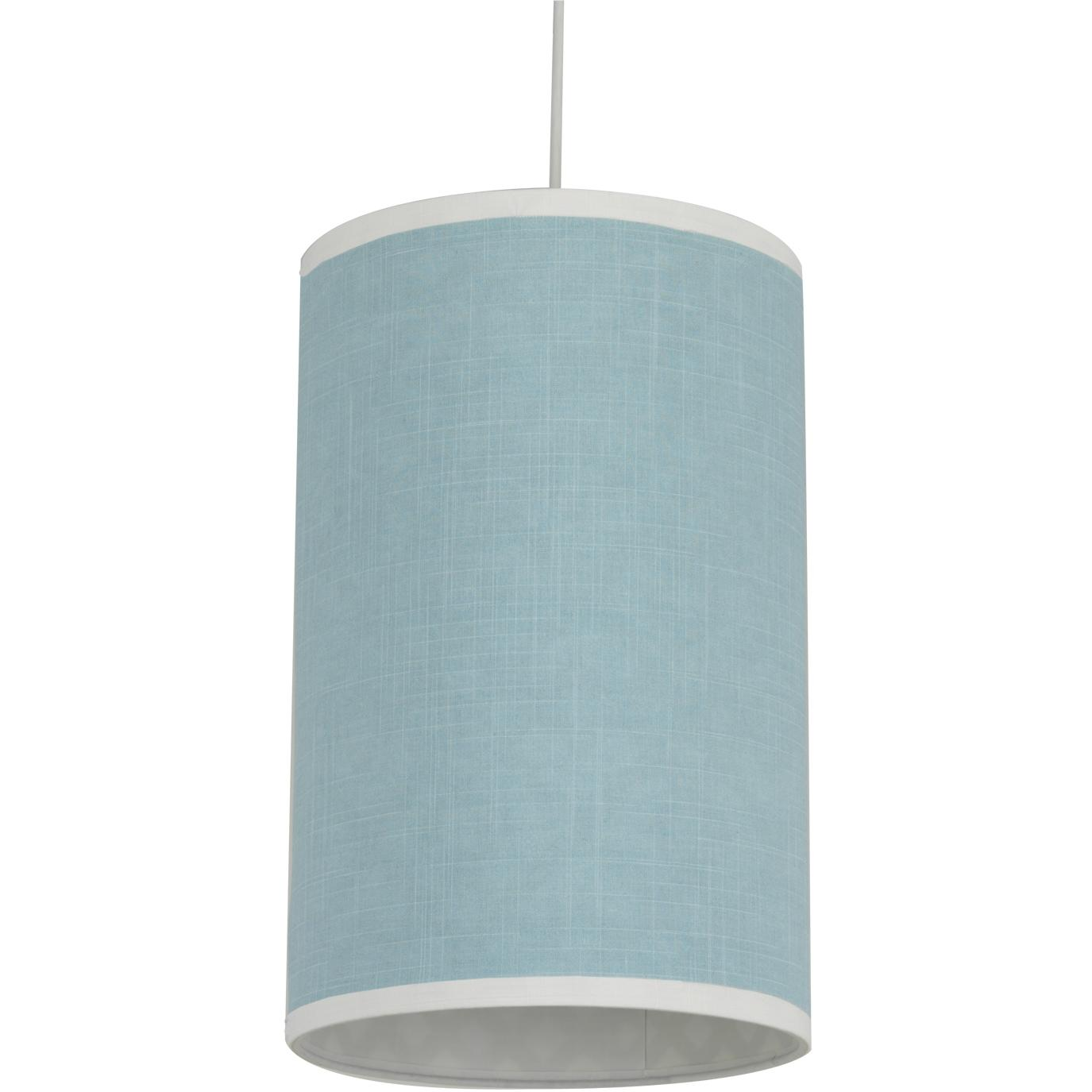 Oilo Cylinder Hanging Lamp - Raindrops Aqua Solid