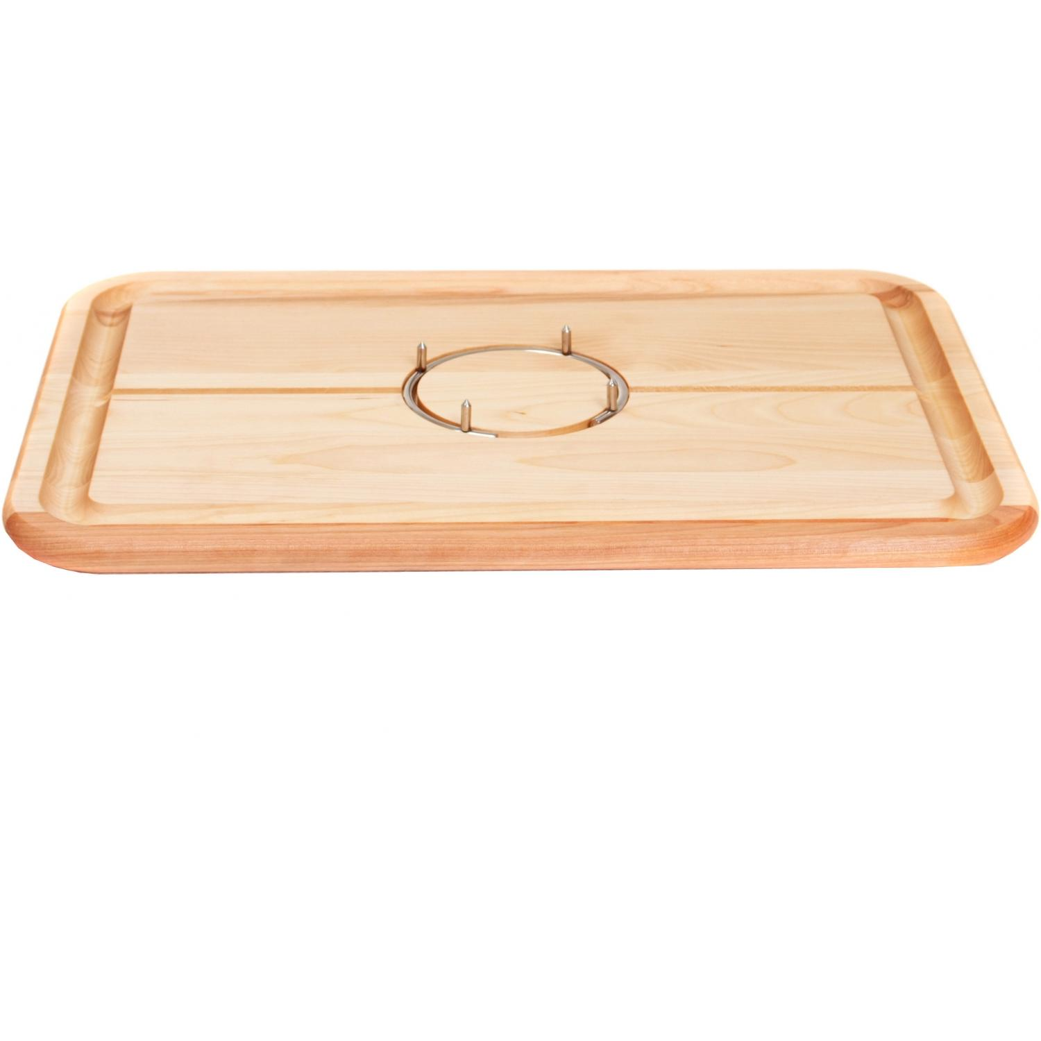 The Grabber Cutting Board With Stainless Ring