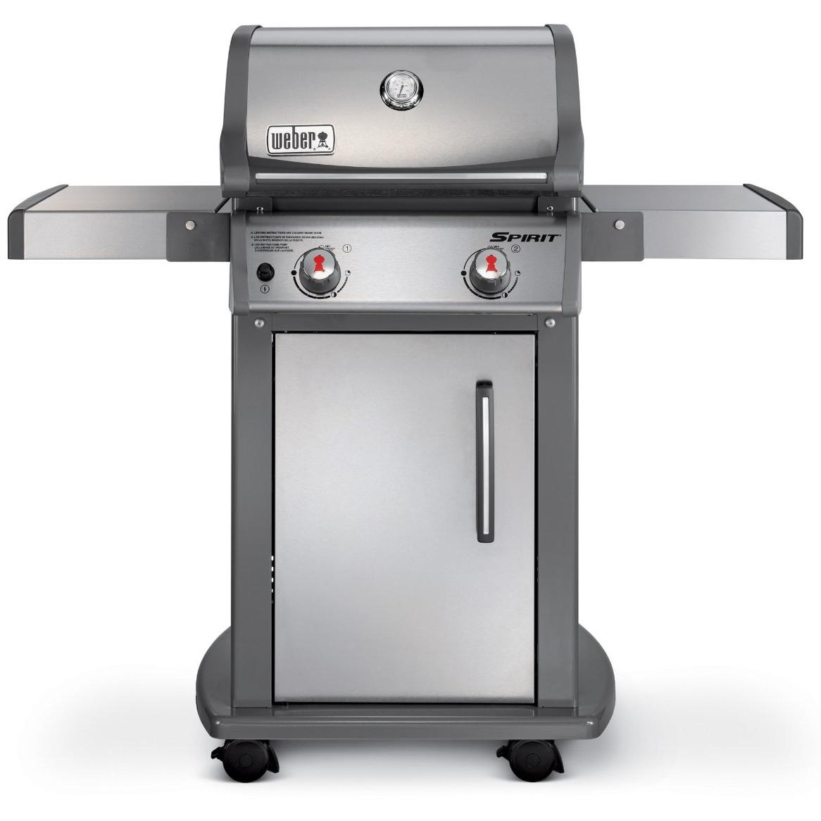 weber spirit s 210 propane gas grill on cart. Black Bedroom Furniture Sets. Home Design Ideas