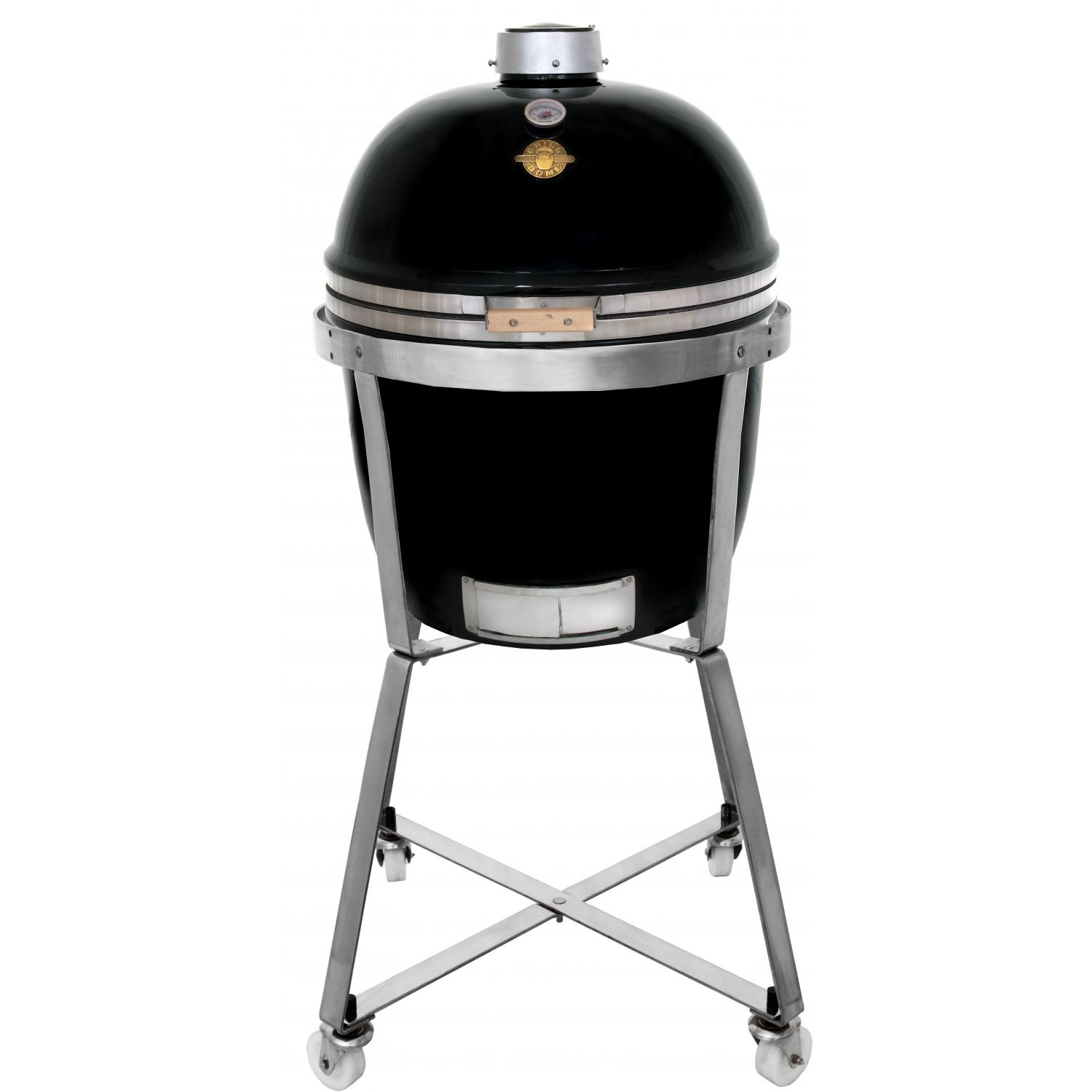 Grill Dome Infinity Series Large Kamado Grill On Dome Mobile - Black, Discount ID GDL-BK SS Mobile