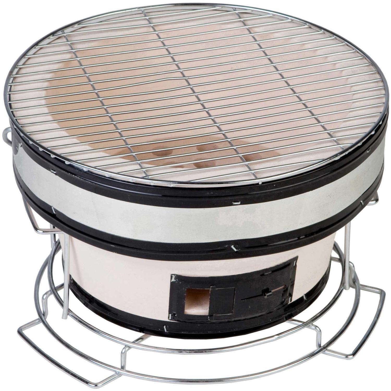 Nice Fire Sense HotSpot Round Yakatori Table Top Charcoal Grill