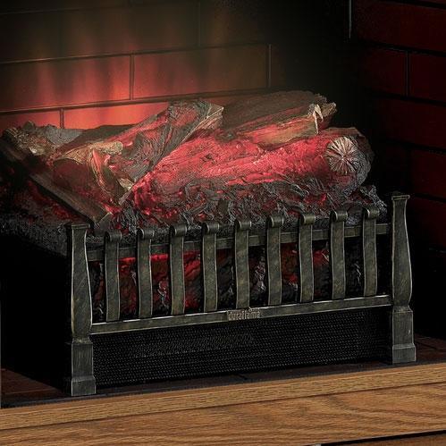 Duraflame DFI020ARU Electric Fireplace Log Set Insert With Heater - Black