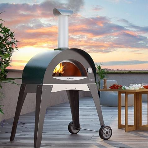 Alfa Forno Ciao Wood Burning Pizza Oven On Cart - Green