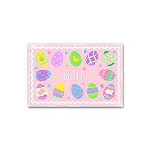 Olive Kids Personalized Laminate Placemat - Easter Girl
