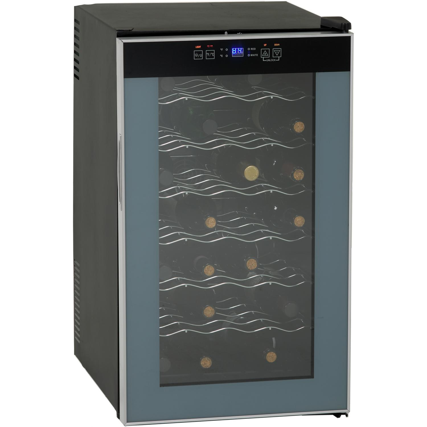 Picture of Avanti 28 Bottle Freestanding Wine Chiller - Black - SWC2801