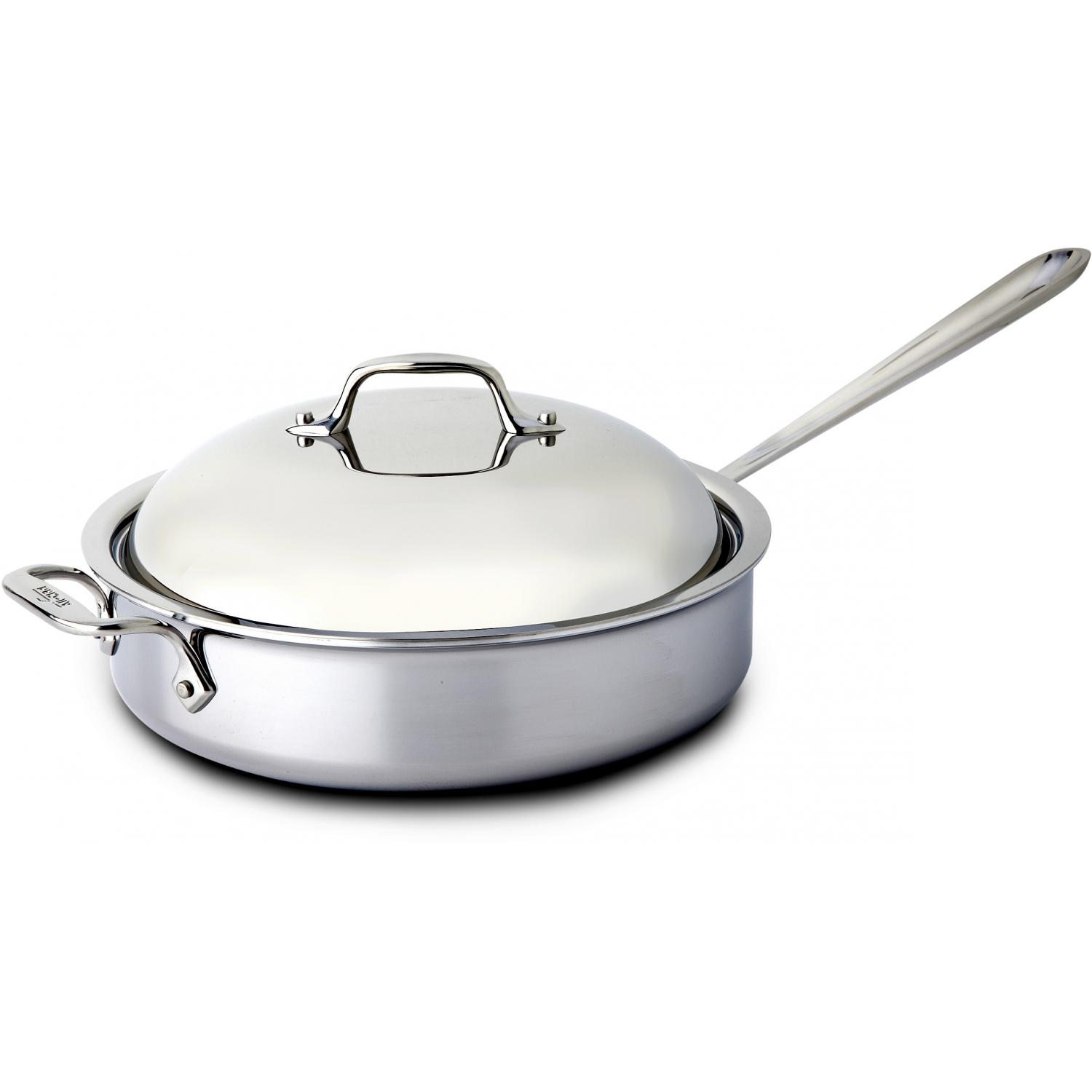 All-Clad Stainless 4-Quart Saute Pan With Domed Lid