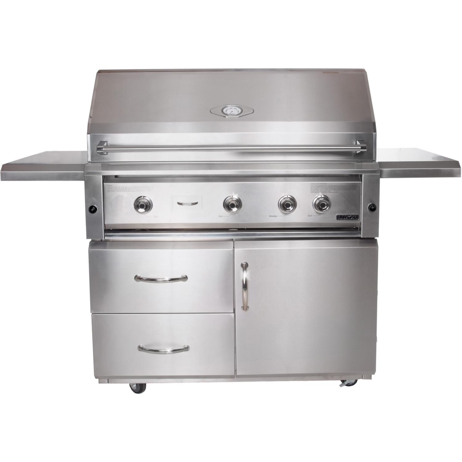 Luxor Gas Grills 42 Inch All Infrared Natural Gas Grill On Cart AHT-42F-NG