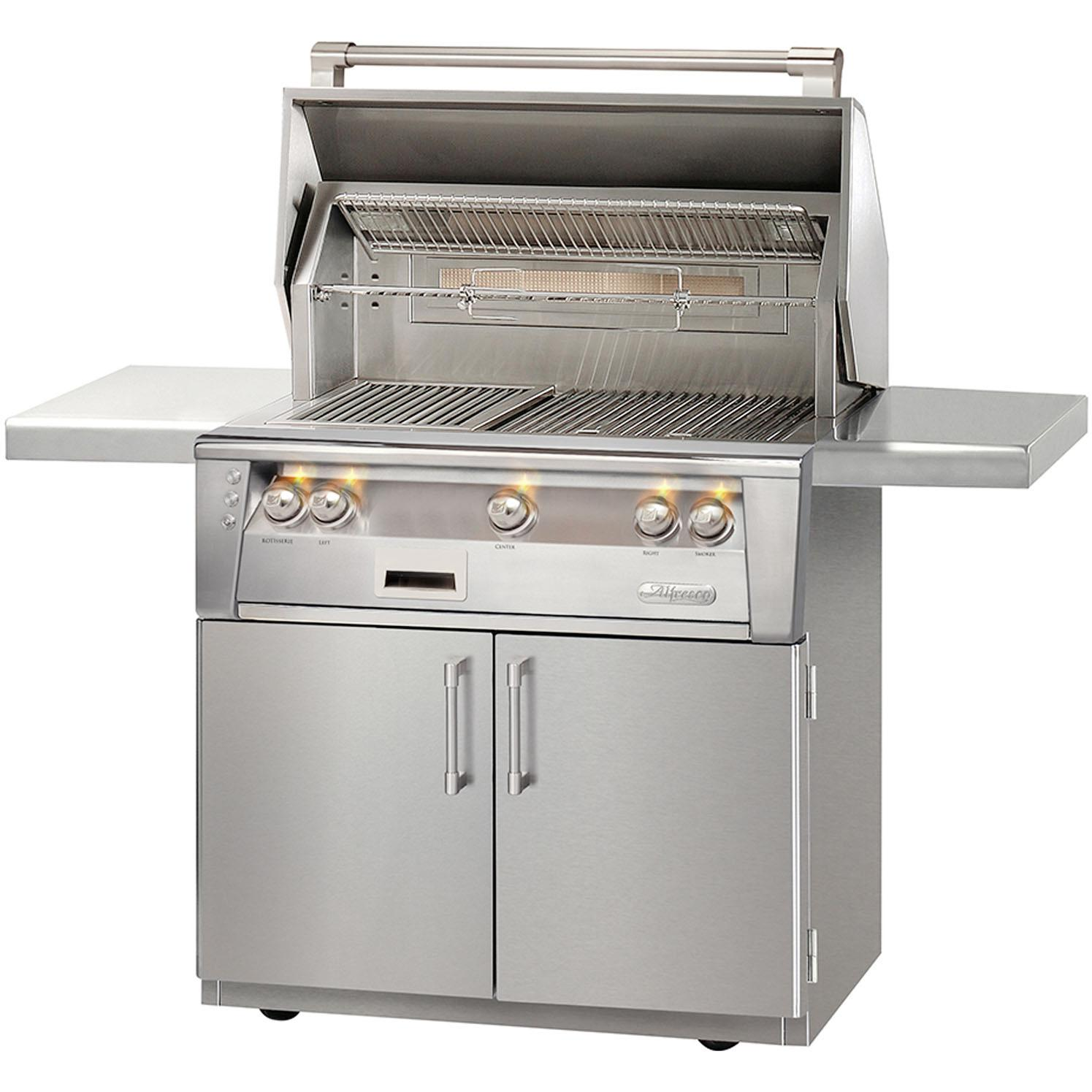 Alfresco LXE 36-Inch Propane Gas Grill On Cart With Sear Zone And Rotisserie - ALXE-36SZC-LP 2911878