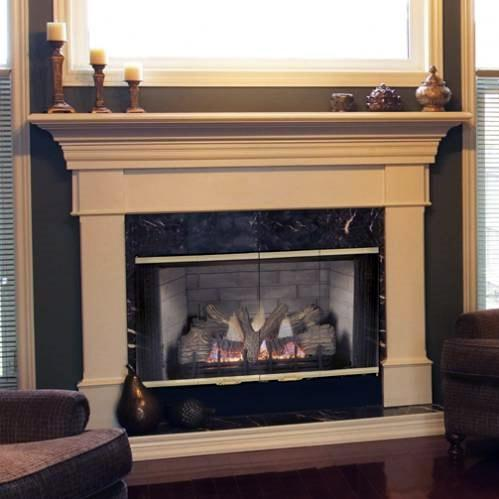 Monessen 500SBVNSC Designer Series 42-Inch Refractory Lined Natural Gas B-Vent Fireplace System With Standing Pilot