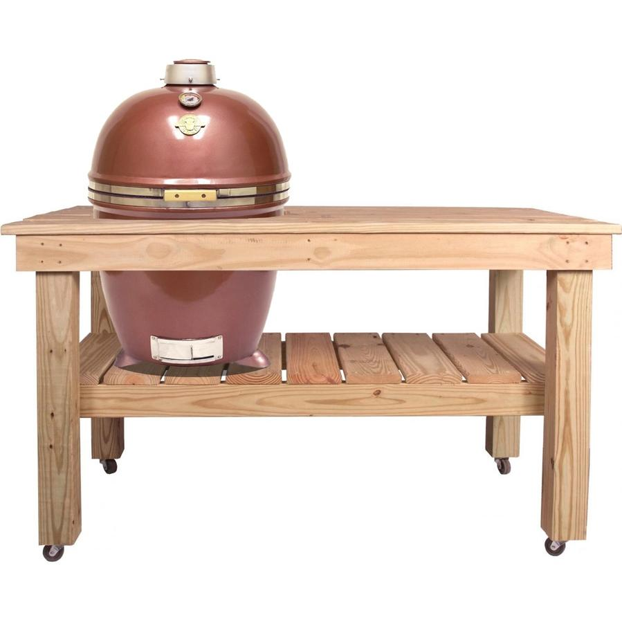 Grill Dome Infinity Series Large Kamado Grill On Cypress Table - Copper at Sears.com