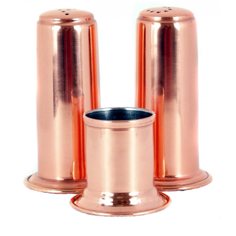 Old Dutch Copper 3 Pc. Salt And Pepper Set