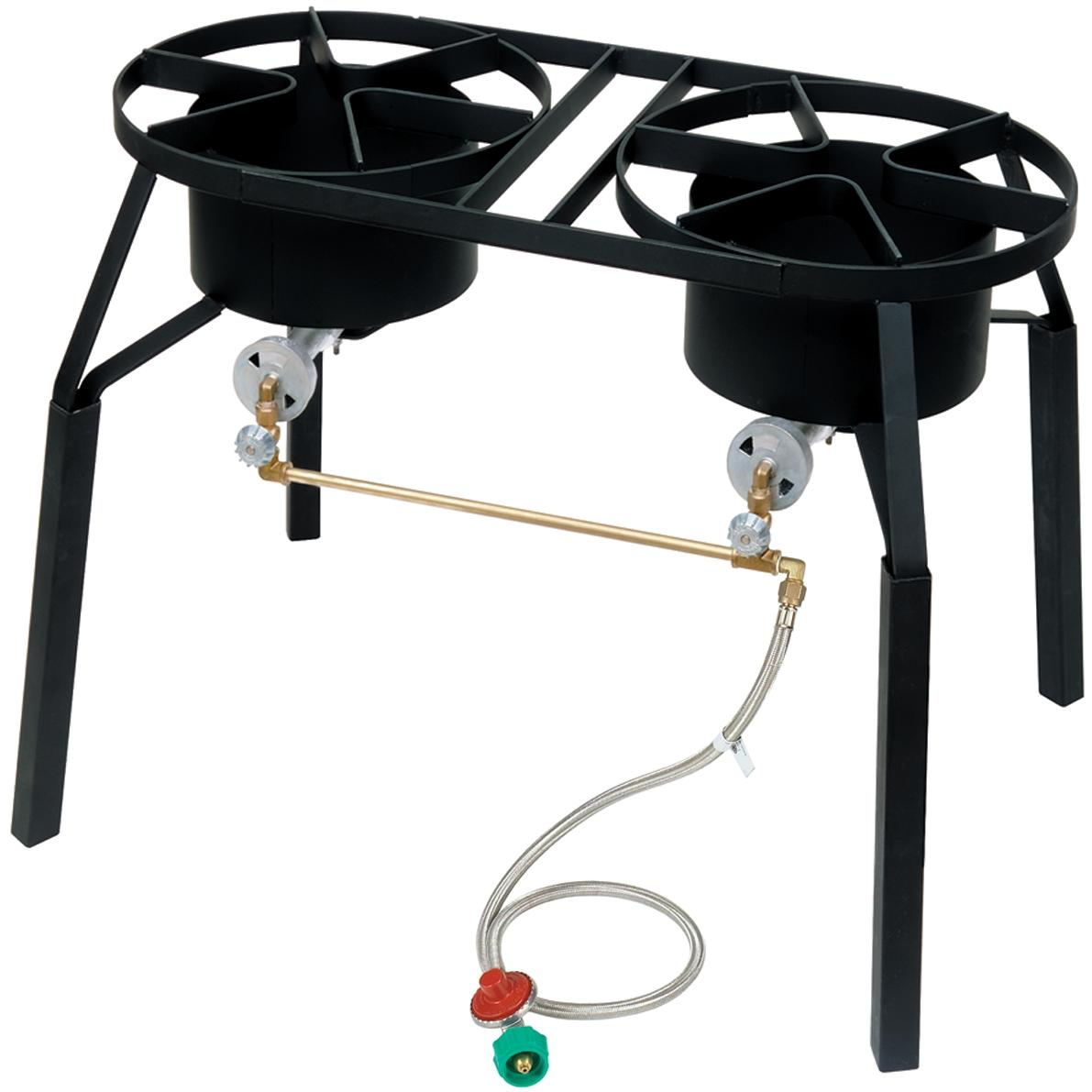 Bayou Classic Cookers With Extension Legs Dual High Pressure Gas Burner Cooker
