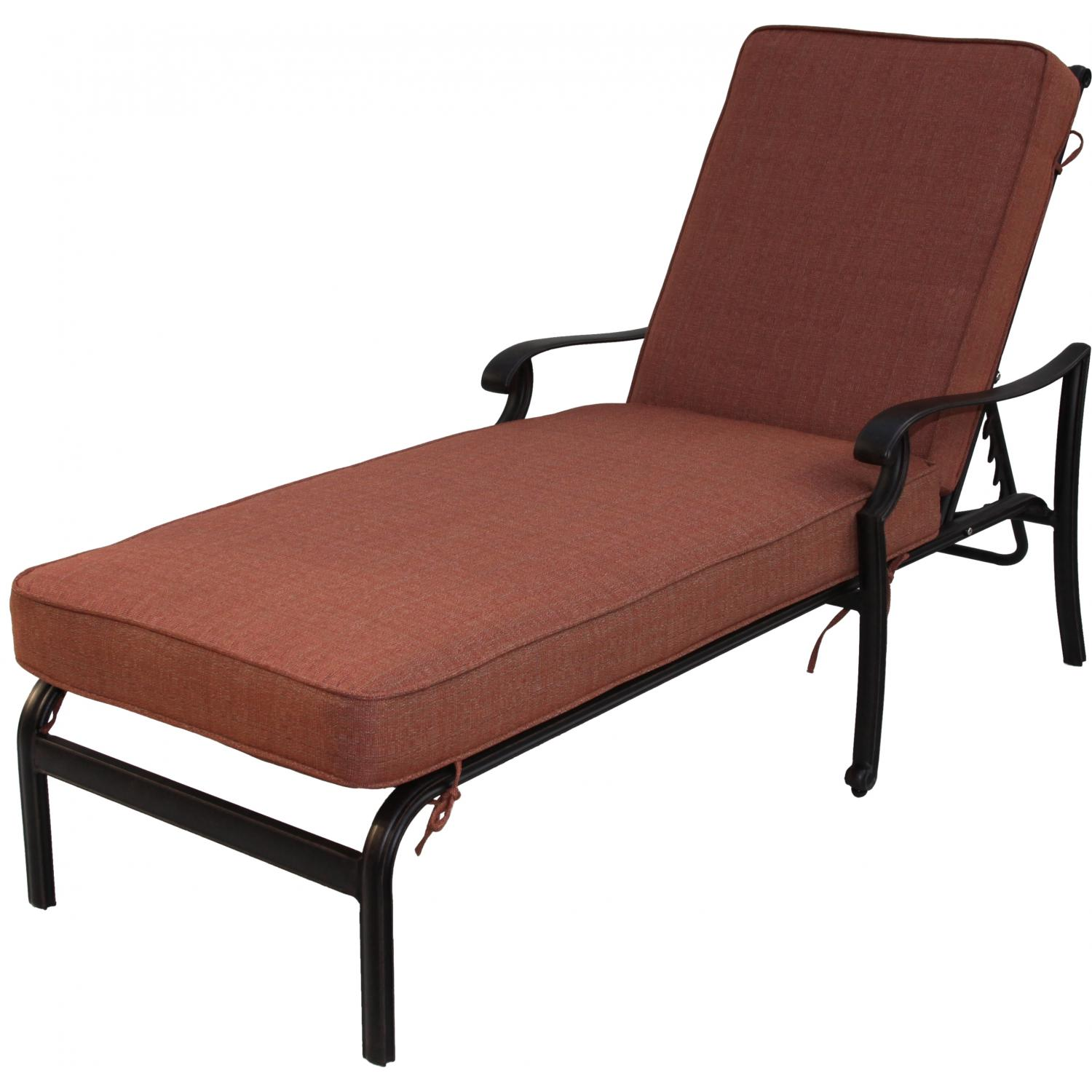 Darlee st cruz cast aluminum patio chaise lounge antique for Aluminum outdoor chaise lounge
