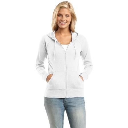 District Junior Ladies Full Zip Hoodie Jacket XXL - White 2475065