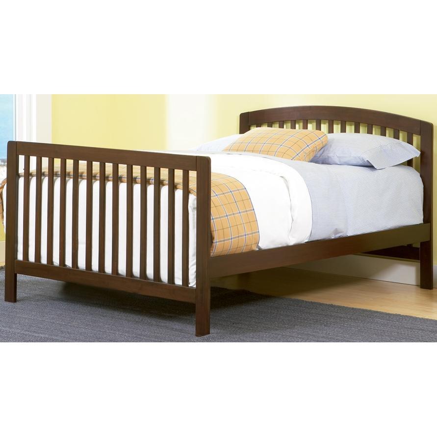 Atlantic Furniture 4003430 Richmond Crib / Full Bed Antique Walnut