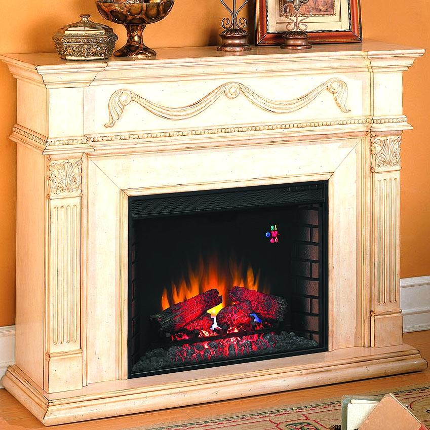 Gossamer 55-inch Electric Fireplace - Antique Ivory - 28wm184