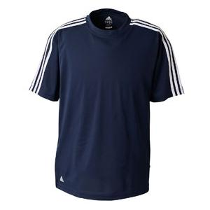 Adidas Golf Mens ClimaLite 3-Stripes Golf Tee 3XL - Dark Navy/White