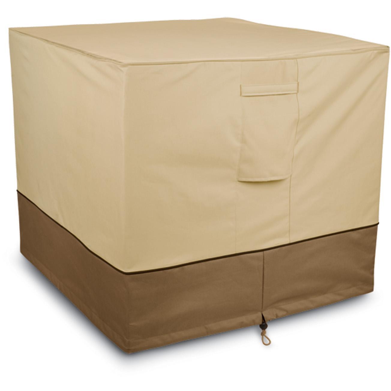 Classic Accessories Veranda Air Conditioner Cover - Pebble/Barn/Earth - Square 2826026