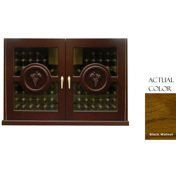 Vinotemp 224 Bottle Concord Series Wine Cellar Credenza - Glass Doors / Black Walnut Cabinet - VINO-296CONCORD-BWA