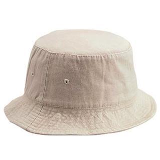 Otto Cap Garment Washed Cotton Twill Bucket Hat L/XL - Khaki
