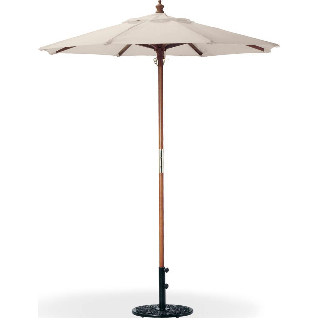 Oxford Garden 6 Ft. Octagon Wood Patio Market Umbrella - Natural