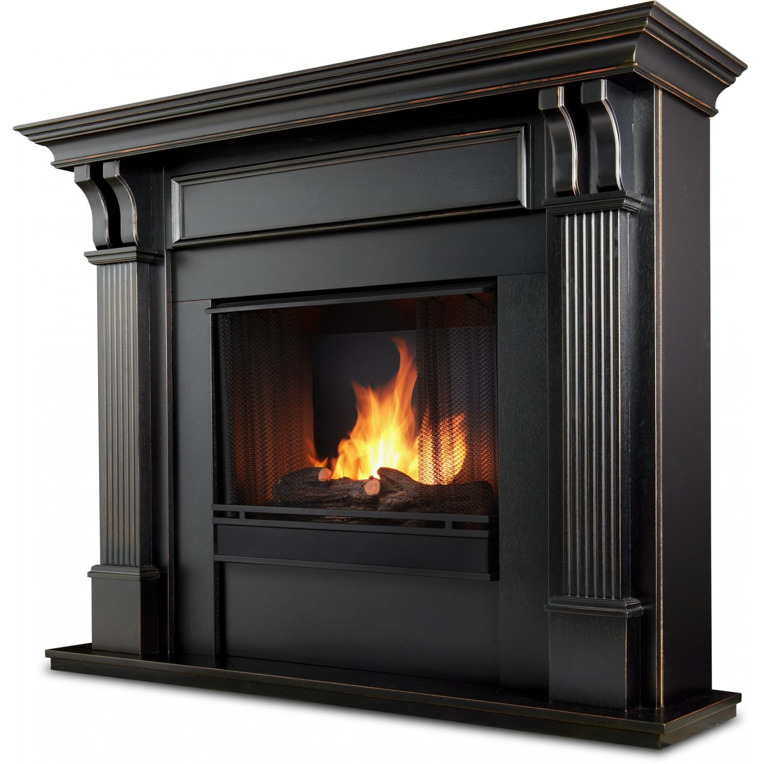 Real Flame Ashley 48-Inch Gel Fireplace - Blackwash