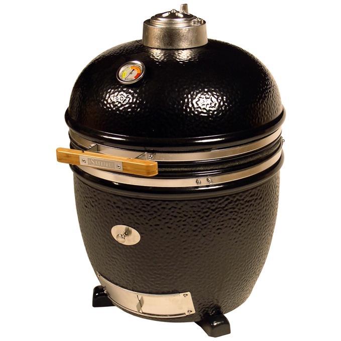 Saffire Grill Kamado Style Charcoal Grill And Smoker - Onyx Black, Discount ID SG18NC-OB