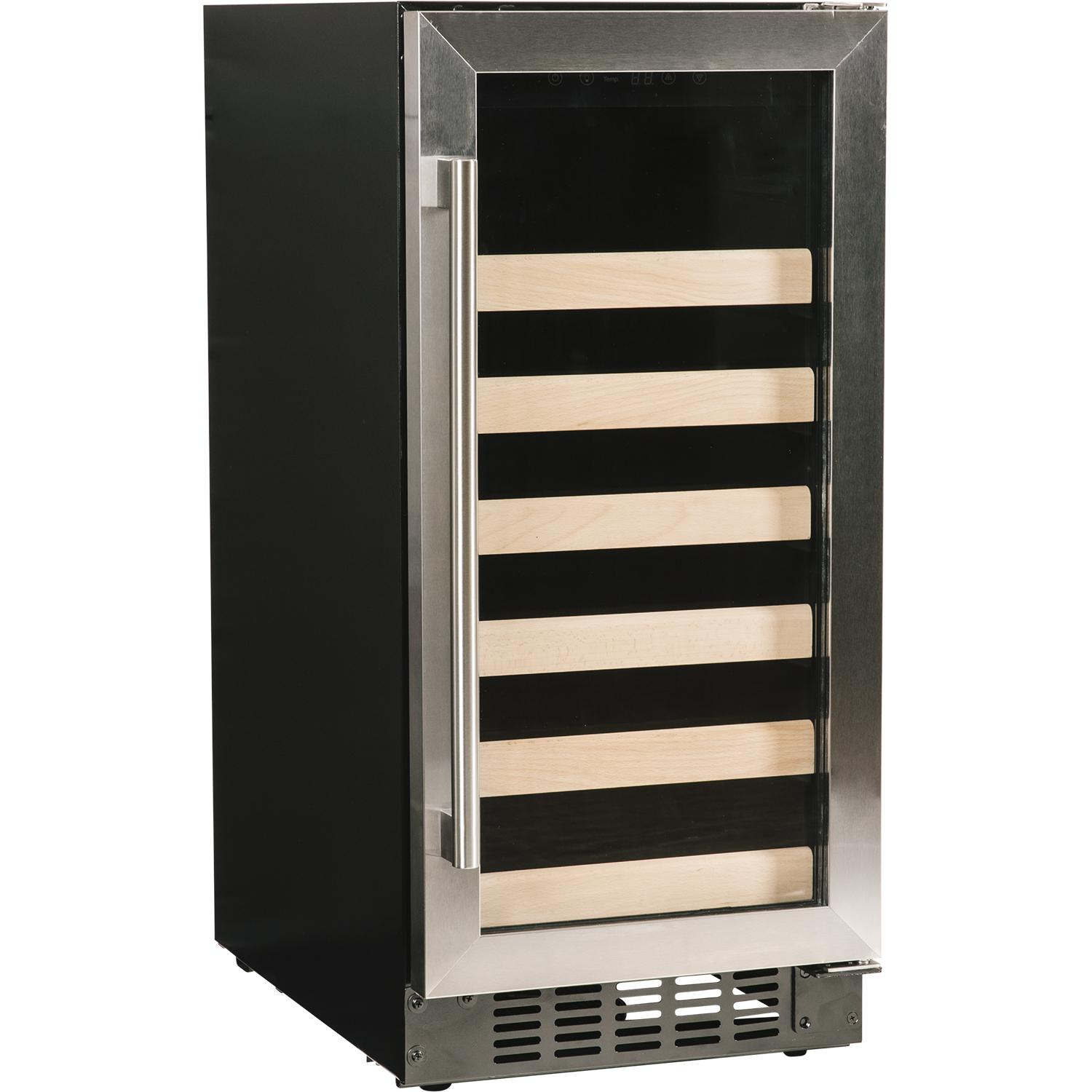 """Azure 15"""" 30 Bottle Wine Cooler - Stainless Steel - A115wc-s"""