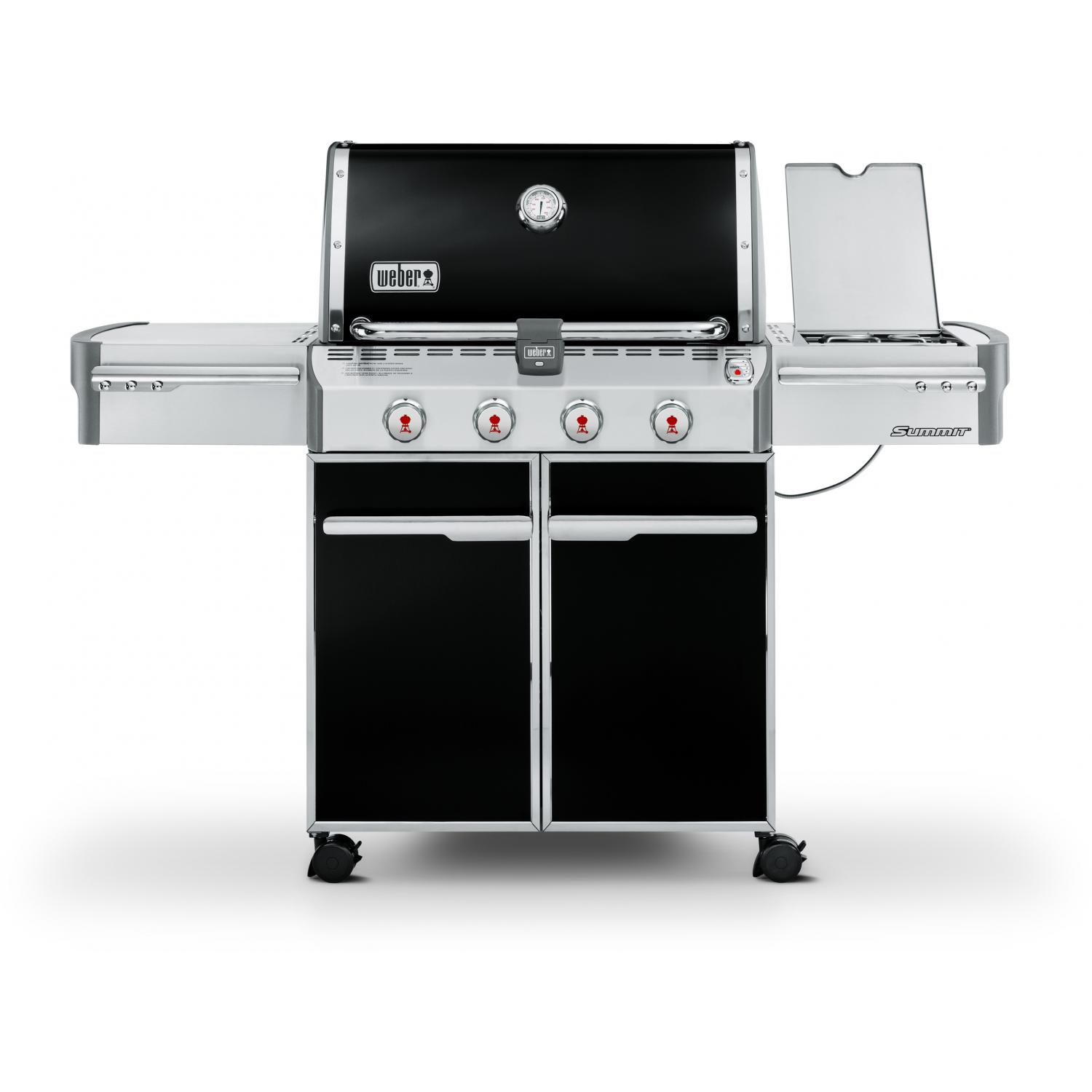 Weber Summit E-420 Propane Gas Grill On Cart With Side Burner - Black 2682960