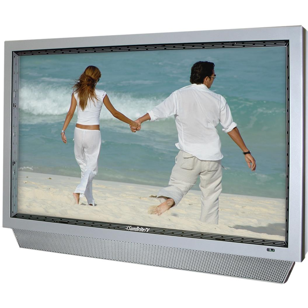 SunBriteTV All-Weather 32-Inch LCD Outdoor HDTV With Articulating Wall Mount, Remote & Cover - Silver