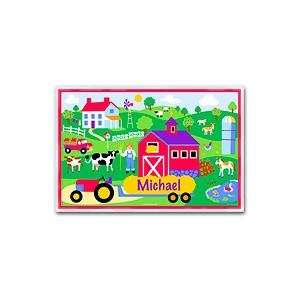 Olive Kids Personalized Laminate Placemat - Country Farm