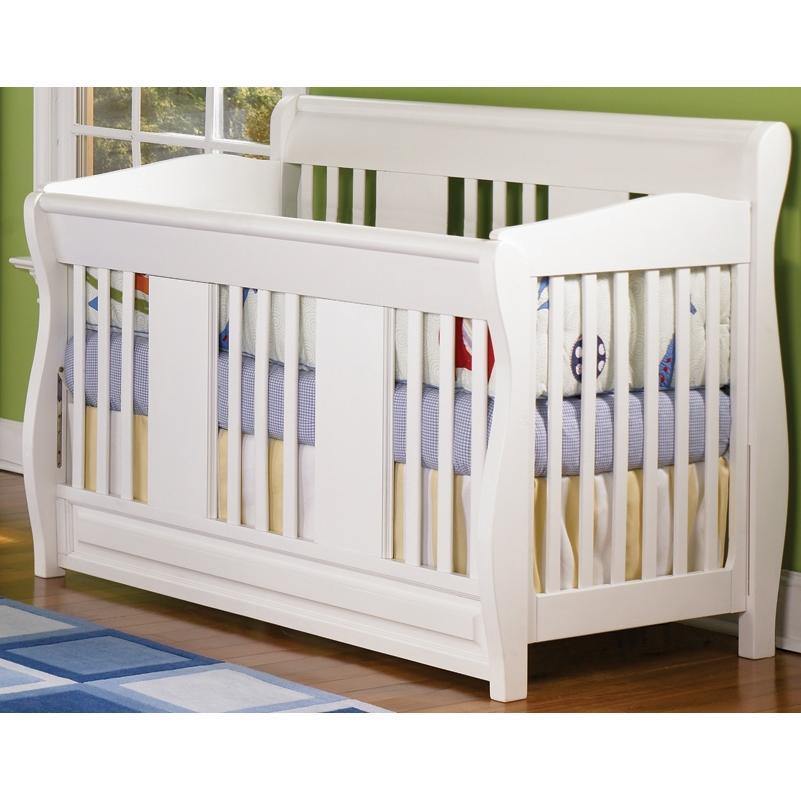 Atlantic Furniture 4033230 Versailles Convertible Crib / Full Bed White
