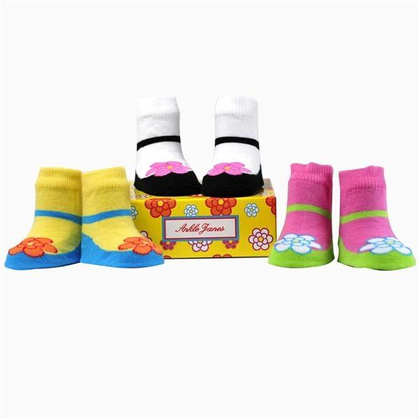Elegant Baby Organic 3-Pair Sock Set - Ankle Janes