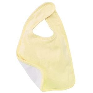 Bella Baby Reversible Baby Bib - Pale Yellow/White
